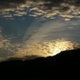 秋元湖の秋の雲